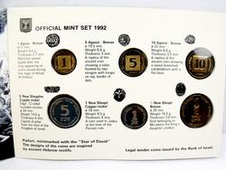 1992 Official Mint Set Piefort, Israel Coins