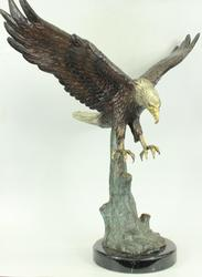 31 inches Tall American bald Eagle Bronze Sculpture