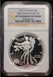 2013-W Certified Silver Eagle NGC SP 70 Enhanced