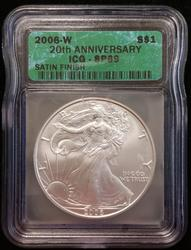 2006-W Certified Silver Eagle ICG SP 69 Satin Finish
