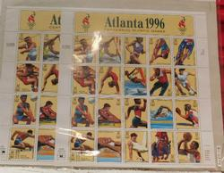 2 sheets Atlanta 1996 Olympic stamps, $12.80 face value