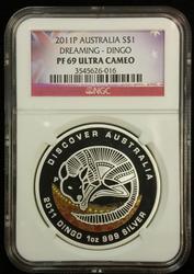 2011P Australia PF 69 Ultra Cameo Dreaming Dingo $1