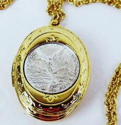 Coin Locket with Mustard Seed & Psalm