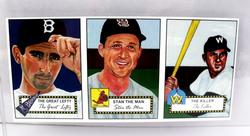 3 Uncut Baseball Cards - Artist Renderings