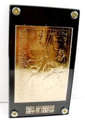 Hall of Famers 22KT Gold Baseball Card