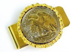 1943 Silver Half Dollar Money Clip