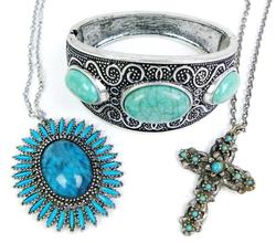 Collection of Faux Turquoise Jewelry