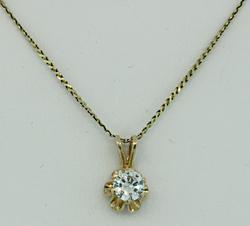 Diamond Solitaire Pendant Necklace