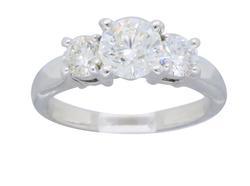 Classic Three Stone 1.09CTW Diamond Ring