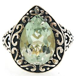 Vintage Sterling Silver Gemstone Ring