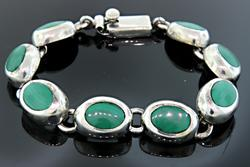 Malachite Oval Link Bracelet