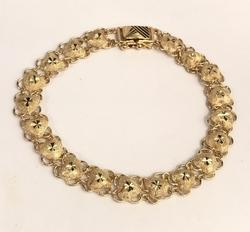 18KT Yellow Gold Heart Link Bracelet