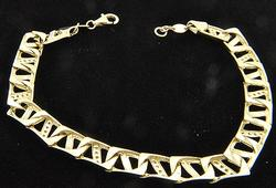 14kt Yellow Gold Bracelet, Heavy!