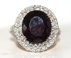 Impressive 11+ctw Diamond & Tourmaline Ring in 18kt