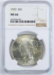 MS66 1923 Peace Silver Dollar - NGC Graded