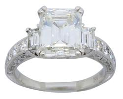 Glamorous 3.65CTW Certified Engagement Ring