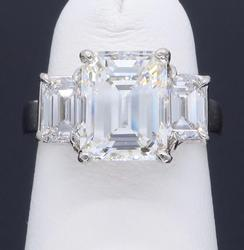 2.63CTW Emerald Cut Diamond Ring, GIA Certified