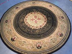 Classic French Chatue Design Area Rug 8ft Round