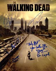 Walking Dead Cast X5 Autographed Signed 11x14 Poster Ph