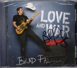 Brad Paisley Autographed Love And War Un-Opened CDC UAC