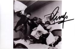 Ringo Starr Signed Beatles In The Beginning 6x4 Photo U