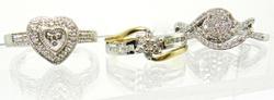 Group of 4 Diamond Rings