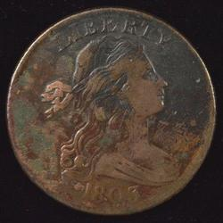 Sharp 1803 Draped Bust Large Cent with VF-Details