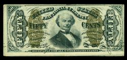 Great 3rd Issue Green Back Fifty-Cent Fractional note