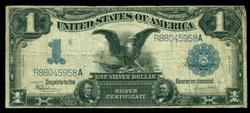 Series of 1899 Large Size $1 'Black Eagle' Silver Cert