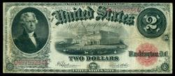 Nicer 1917 Series Large Size $2 Legal Tender Note