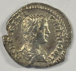 Great Roman Silver Denarius of Geta, 209-211 AD.