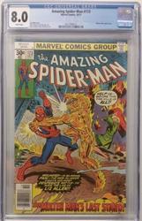 Amazing Spiderman # 173 October 10, 1977 Marvel CGC 8.0