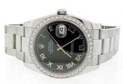 Rolex Datejust Watch Featuring Diamond Bezel