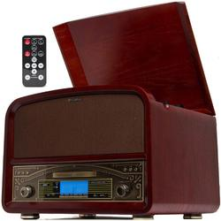 Hi Powered 20W Retro Wooden Turntable w/ Bluetooth NFC