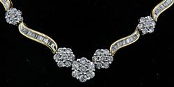 7 Carat Diamond Necklace in 14K Gold