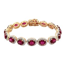 18.88ctw. Diamond and Ruby Bracelet