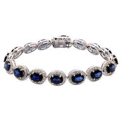 Magnificent 15.96 ctw. Sapphire & Diamond Bracelet