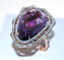 17+ctw Amethyst & Diamond Ring