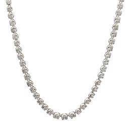 18+ Carat Diamond Platinum Tennis Necklace