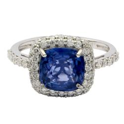 Exquisite 3.01ctw. Sapphire and Diamond Ring
