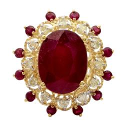 Eye-catching 11.74ctw. Ruby & Diamond Ring