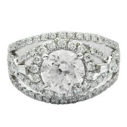 Heart-stopping 3.12ctw. Diamond Ring in Platinum