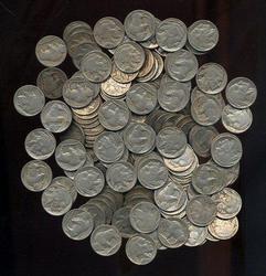 Hoard of 250 Full Date Buffalo Nickels
