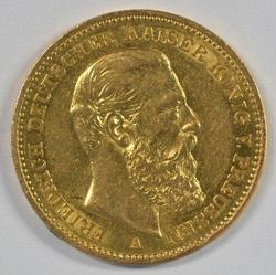Great-looking 1888-A Germany 20 Marks Gold Piece