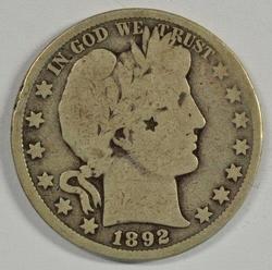 Rare key date 1892-O Barber Half Dollar. Collectible