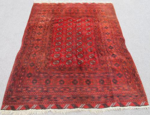 Hand Knotted Semi Antique Wool on Wool Persian Turkmen 7x9