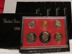 5 x 1980 Proof Sets