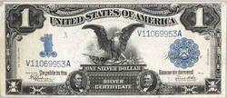 Sharp 1899 $1 Black Eagle Silver Certificate