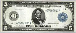 $5 Series of 1914 Philadelphia Fed Reserve Note
