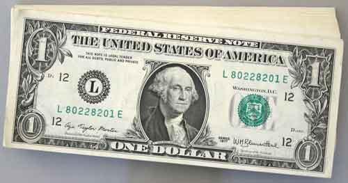 Pack of 100 Ch CU 1977 San Francisco $1 Blumenthal FRN